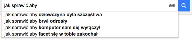 autouzupełnienia google