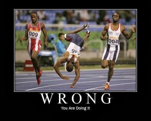 Running-Wrong