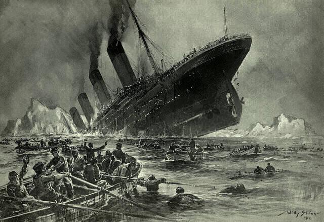 titanic-zatonięcie