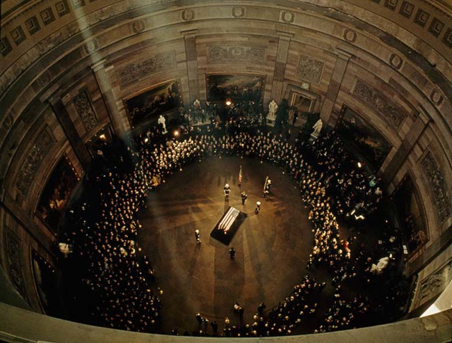 1963 - JFK's funeral in the Capitol Building. - Imgur