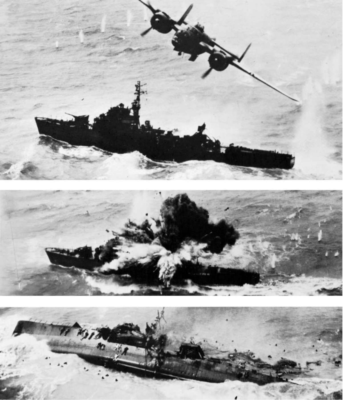USAAF B-25 sinks Japanese destroyer Amatsukaze off the coast of Xiamen, China, 6 April 1945 - Imgur