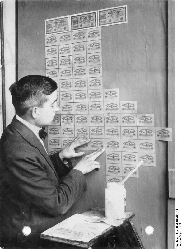 Using banknotes as wallpaper during Hyperinflation, Germany 1923 - Imgur