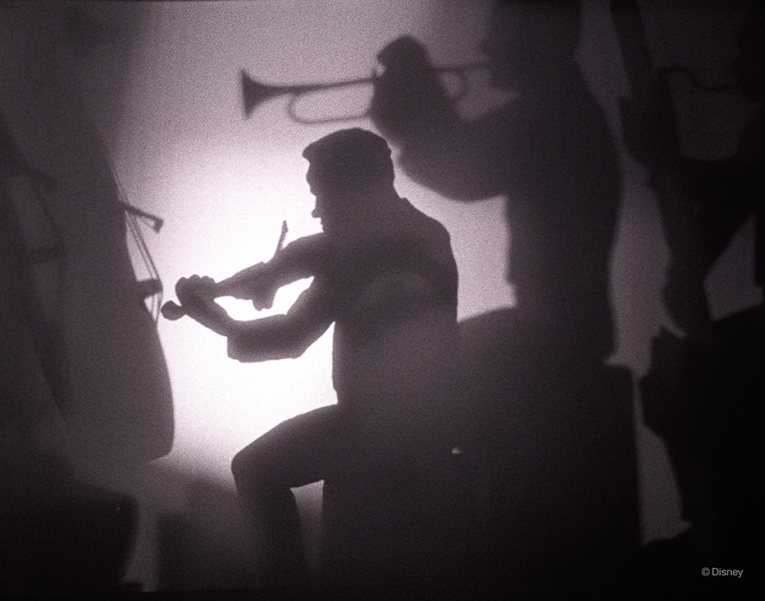 Rok 1940- Zdjęcie muzyków nagrywających ścieżkę dźwiękowa do Disney'owskiego klasyku Fantasia (1940)