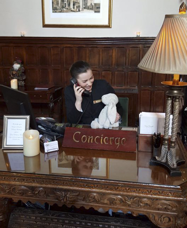 """""""Claire in Concierge is helping me find my family, having fun at Adare Manor"""""""