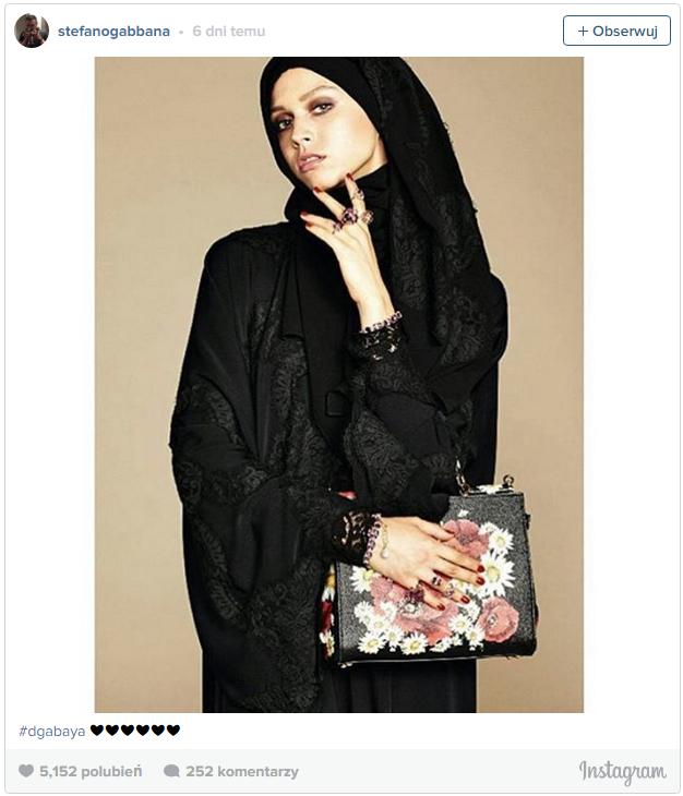 dolce & gabbana kolekcja chust dla muzułmanek