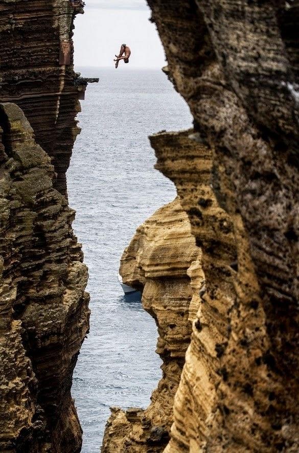 Cliff Diving, Islet of Vila Franca do Campo, Portugal