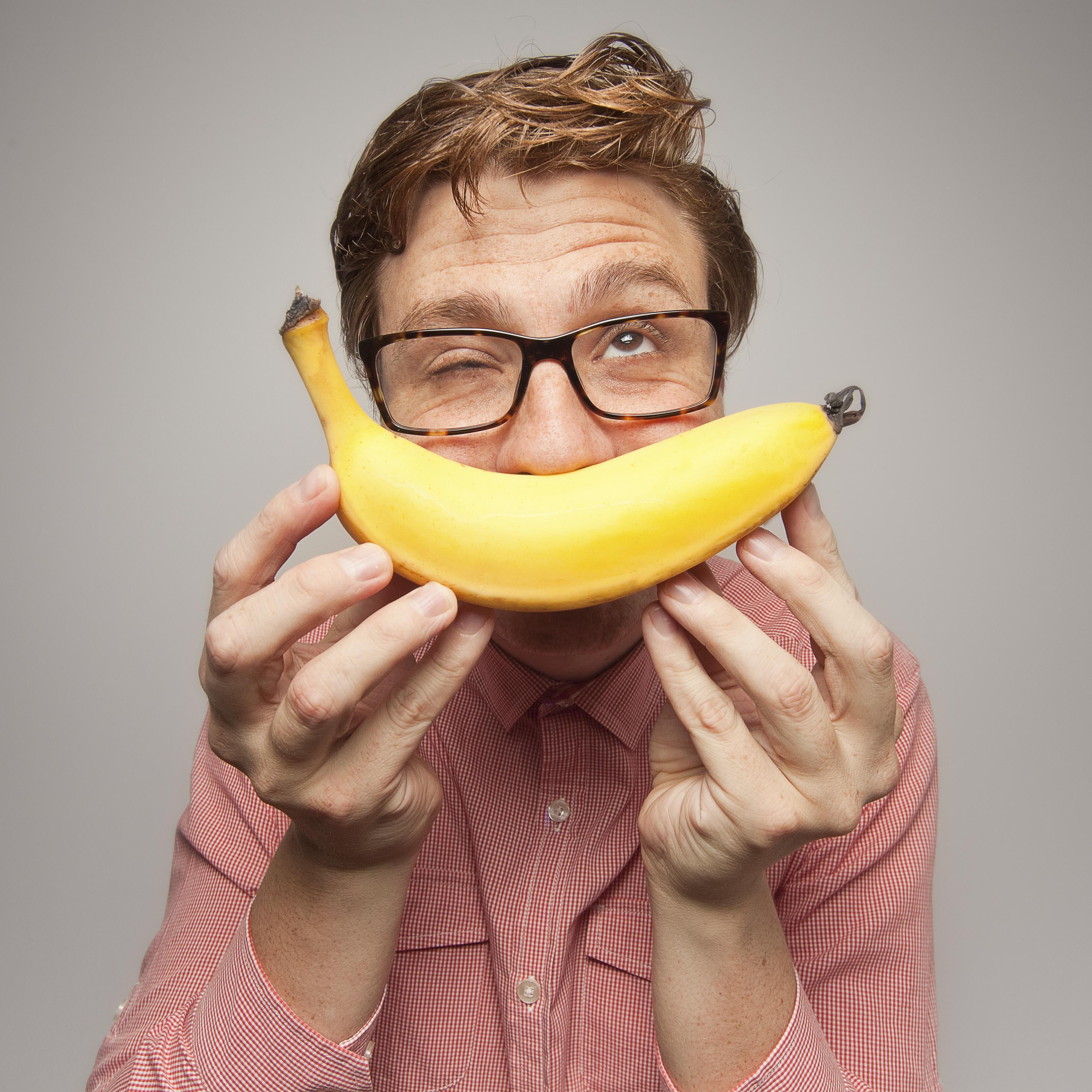 Nerd with Banana