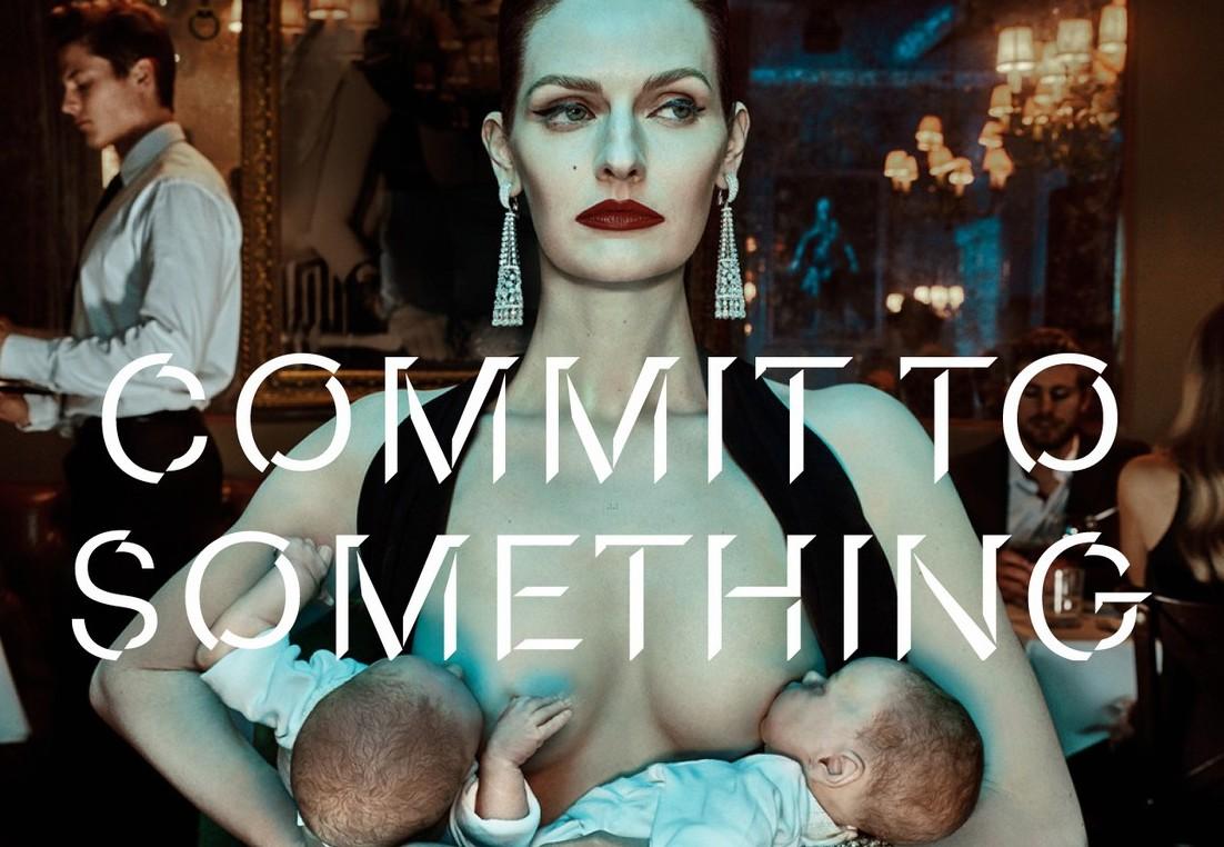 model-breastfeeds-twins-equinox-ad