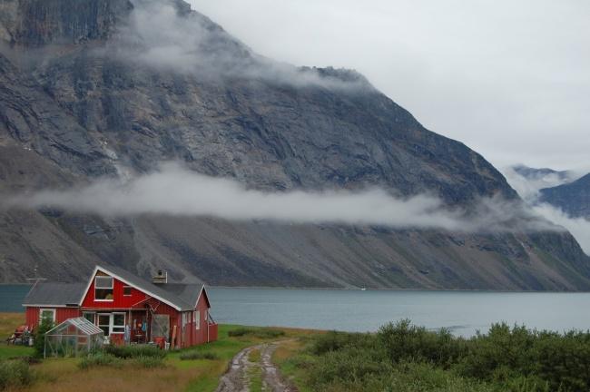A farm house. Nuuk, Greenland.