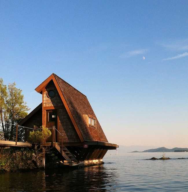 A lake house. Flathead Lake, Montana, USA.