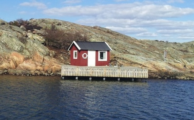 A lakeside house, Sweden.