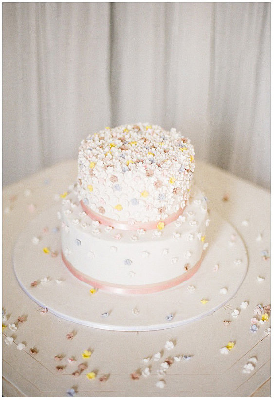 Count this cake sprinkled with edible flowers as one of the prettiest we've ever seen.