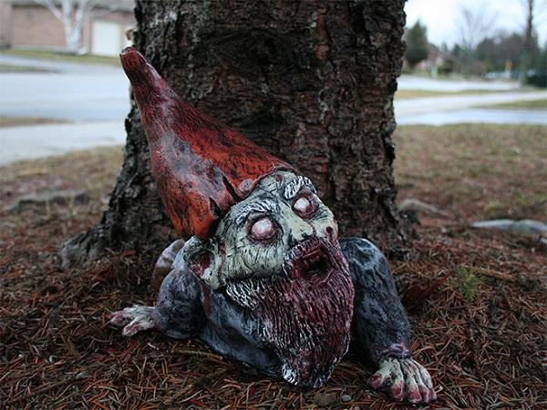 Krasnale ogrodowe Zombie