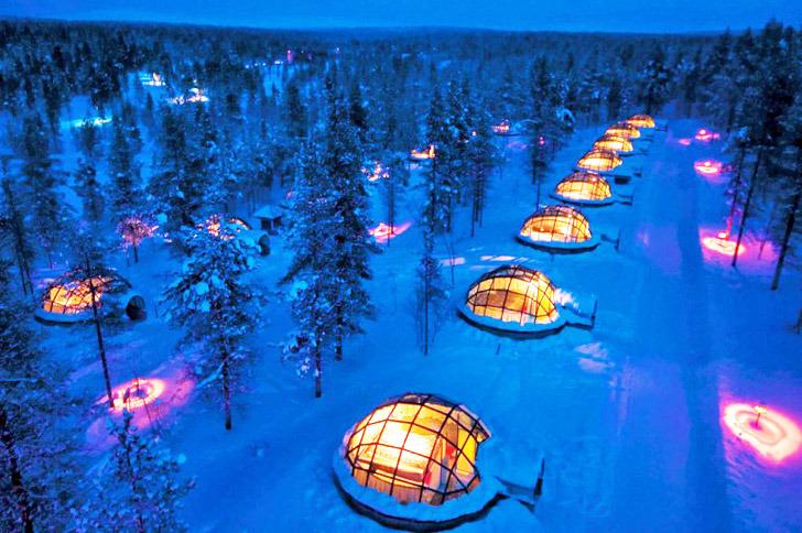 The fancy glass ones – Hotel Kakslauttane, Finland