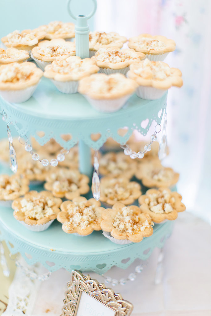 These minicakes are almost too pretty to eat.