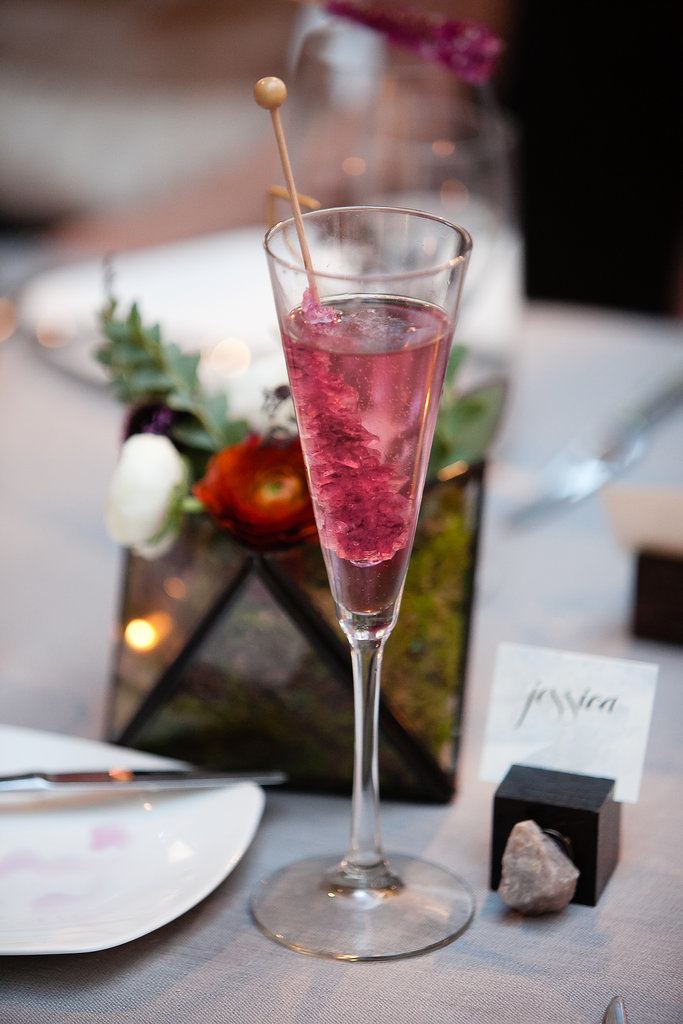 We're loving this pretty-in-pink rock candy stirrer for cocktails.