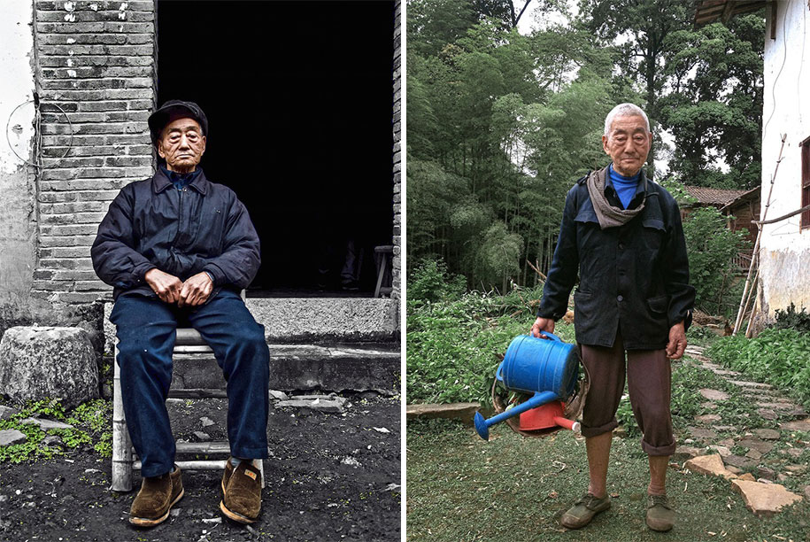 grandfather-farmer-fashion-transformation-grandson-xiaoyejiexi-photography-8