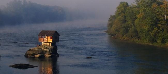 he Drina River house, Serbia.
