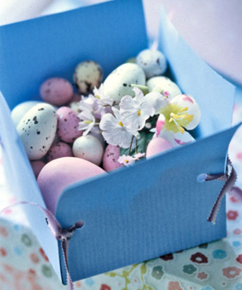 A Linen Box with Chocolate Eggs