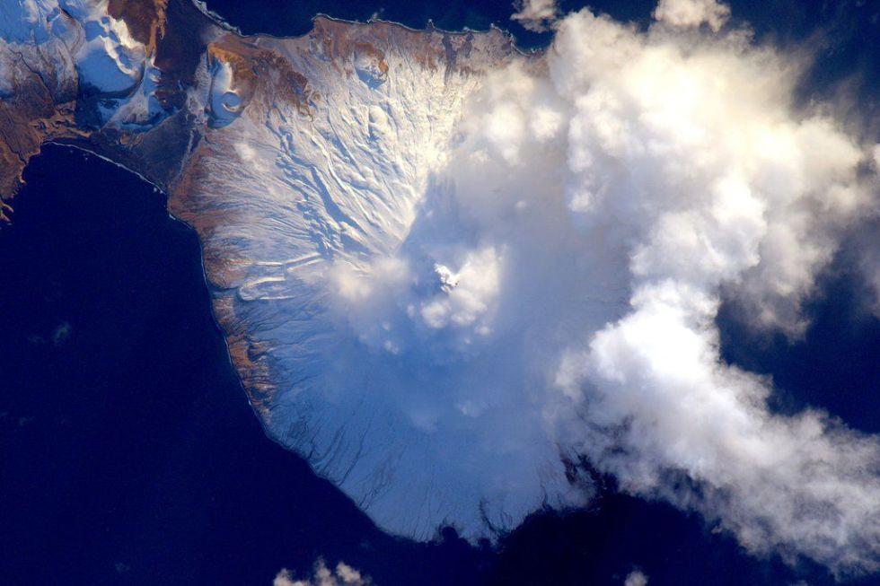 Aleutian Island volcano.