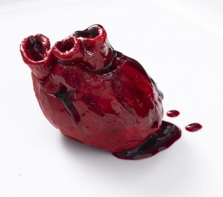 An anatomically-correct edible heart.