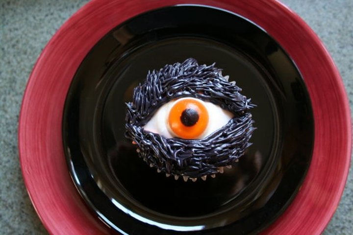 An optical cupcake that's keeping its eye on you.