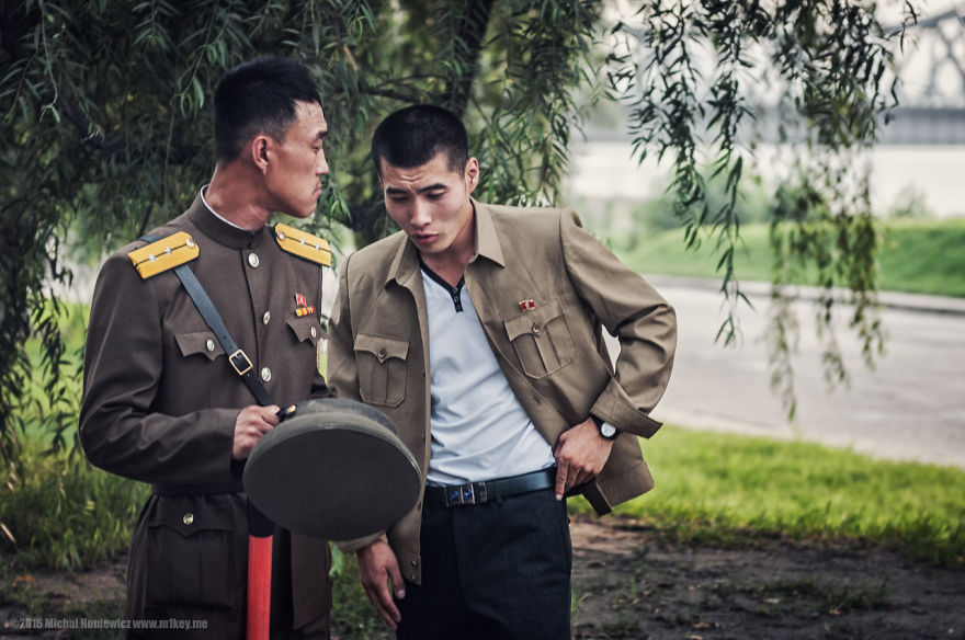 Authority – military is present everywhere in Pyongyang