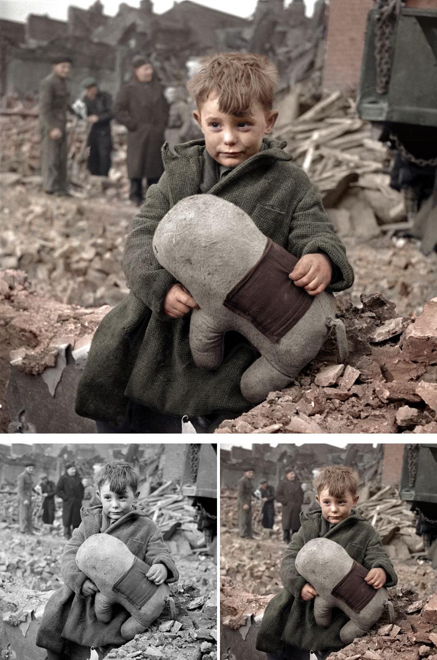 English Orphan In London, 1945