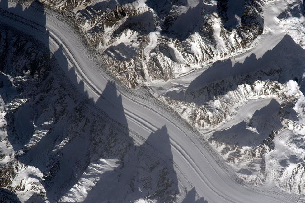 Glaciers in Tajikstan.