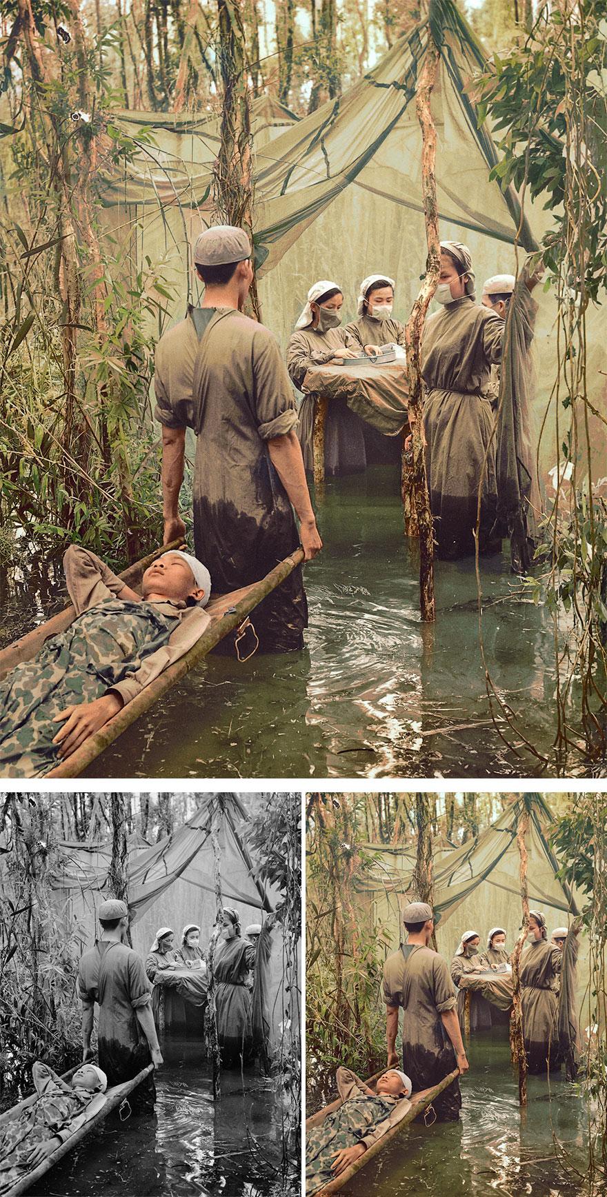 Jungle hospital A Victim Of American Bombing