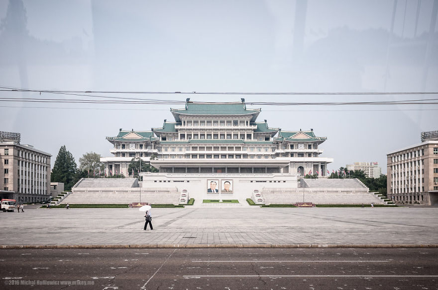 Kim Il-Sung's square. This is one of the places they want you to photograph