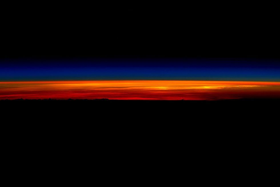 Last sunrise seen from the ISS.