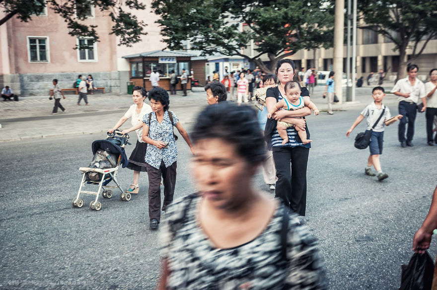 North Korean street photography