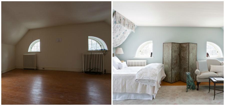 Sypialnia z dziwnymi oknami