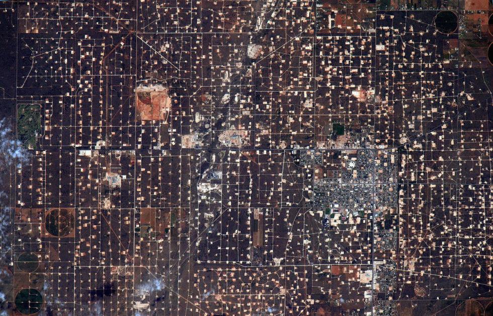 West Texas oil fields.