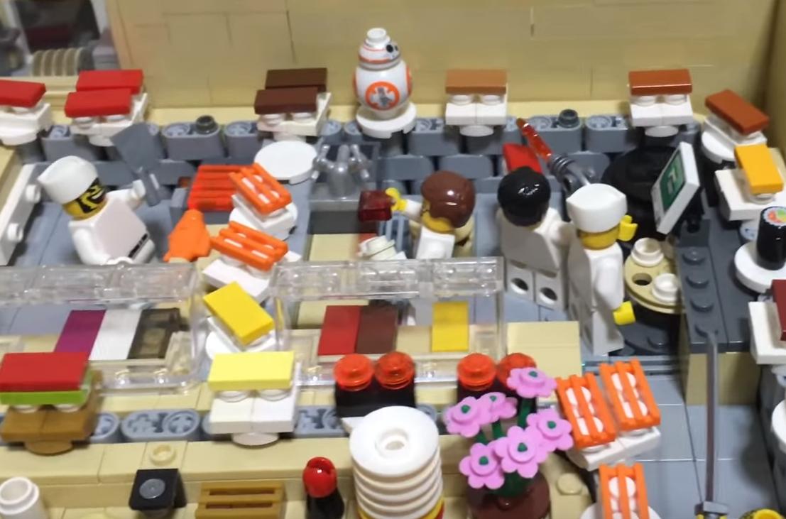 restauracja sushi z lego