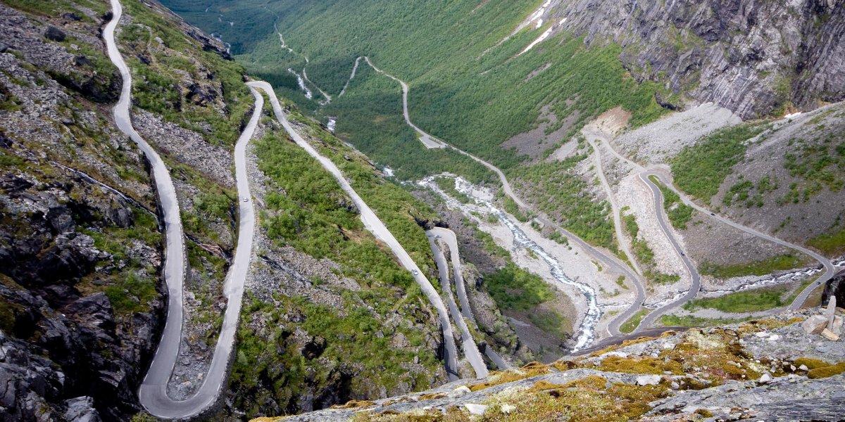 """The Trollstigen Road (""""troll ladder,"""" Norway)"""
