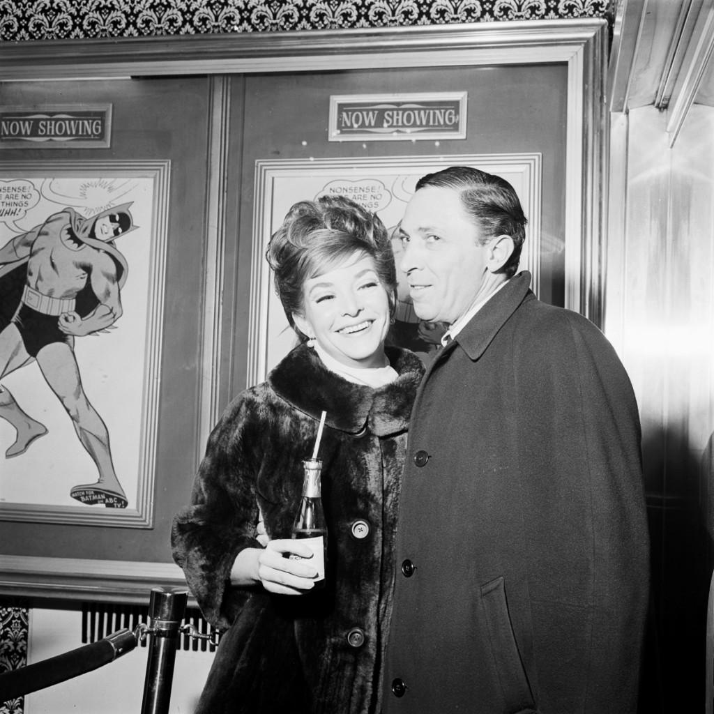 """BATMAN - """"Batman Premier Party"""" - Shoot date January 12, 1966. (Photo by ABC Photo Archives/ABC via Getty Images) BOB KANE"""