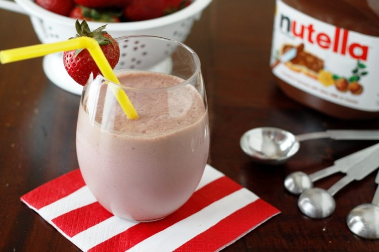śniadaniowy koktajl nutella
