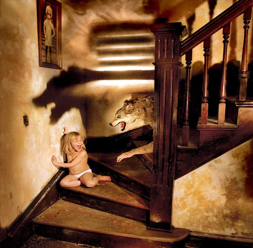 straszna sesja zdjęciowa dzieci
