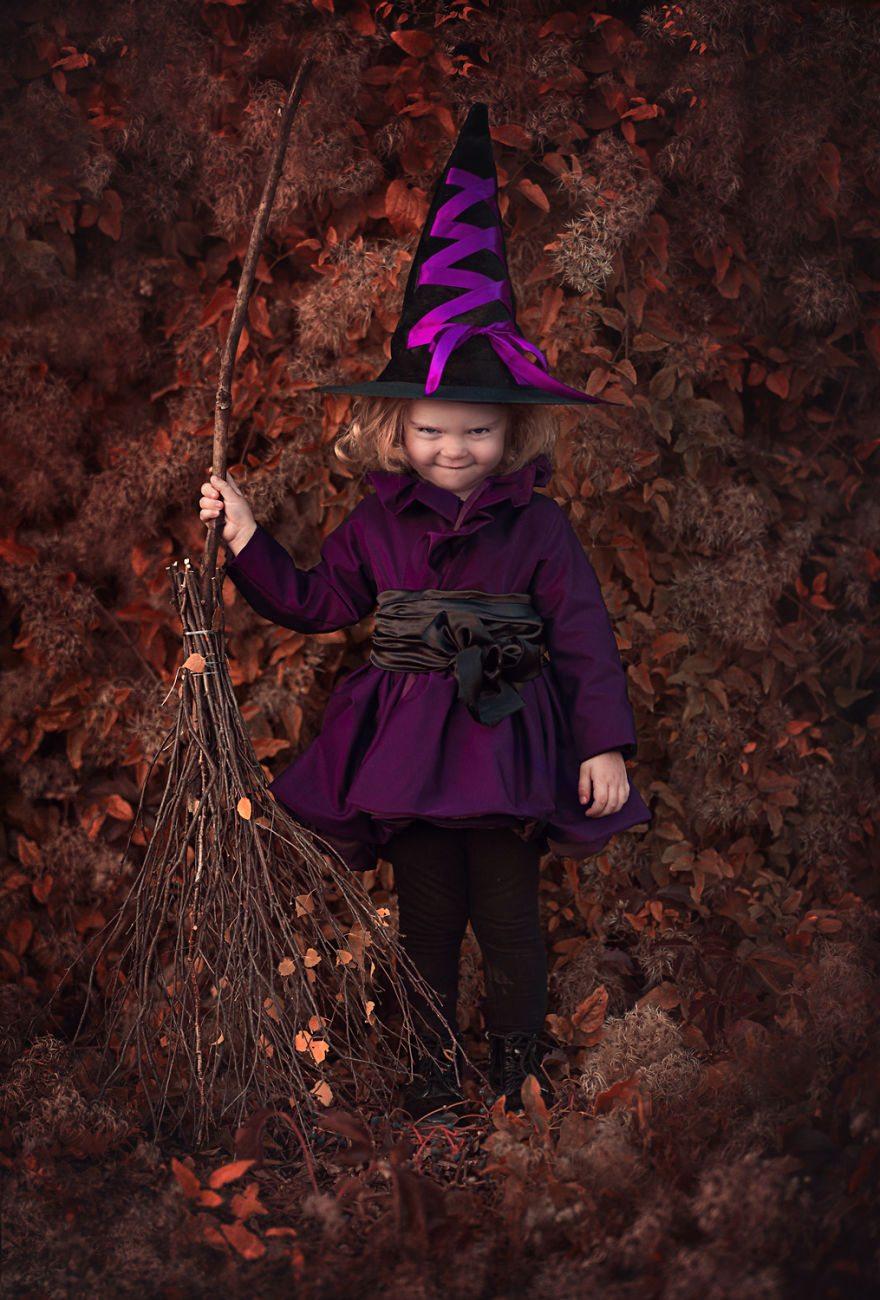 urocza sesja zdjęciowa dzieci w magicznej scenerii