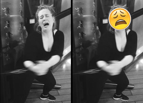 Adele - gwiazdy wyglądały identycznie jak emotikony
