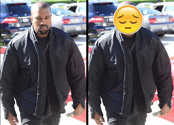 Kanye West - gwiazdy wyglądały identycznie jak emotikony