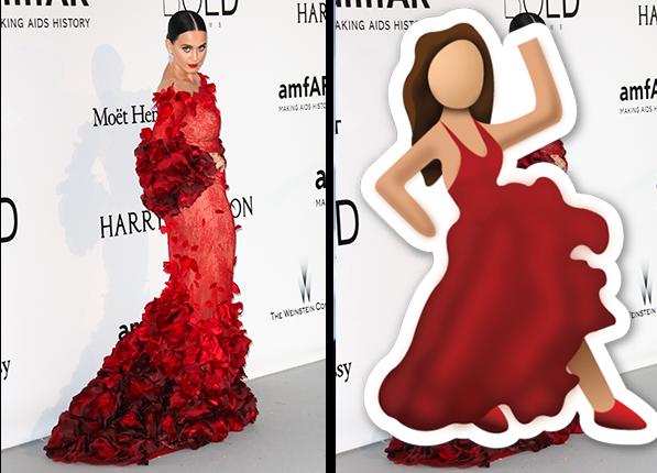 Katy Perry - gwiazdy wyglądały identycznie jak emotikony