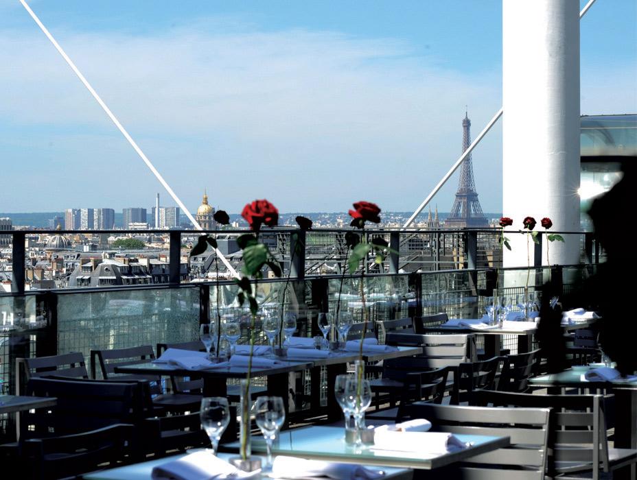 Le Georges - 10 restauracji, z najwspanialszym widokiem w Paryżu