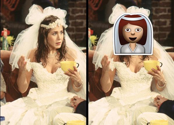Rachel Green - gwiazdy wyglądały identycznie jak emotikony