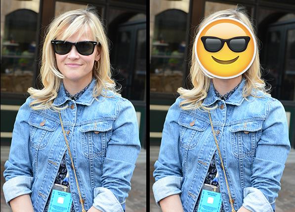 Reese Witherspoon - gwiazdy wyglądały identycznie jak emotikony