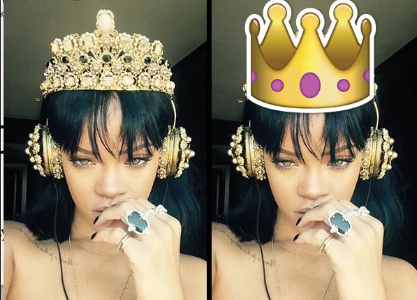 Rihanna - gwiazdy wyglądały identycznie jak emotikony