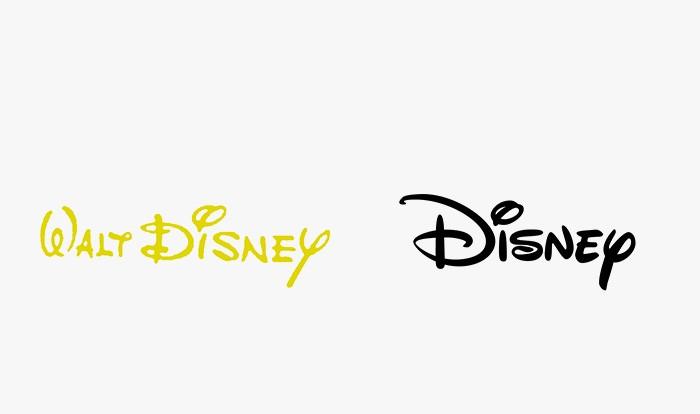 Disney - 25 najpopularniejszych logo
