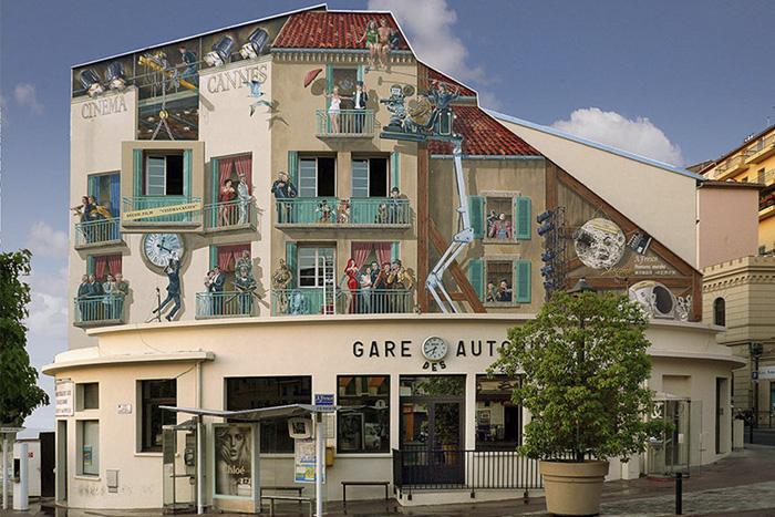 artysta odmienił miasto za pomocą murali
